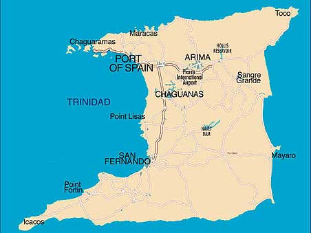 Map Of Spain With Airports.Piarco International Airport Trinidad West Indies